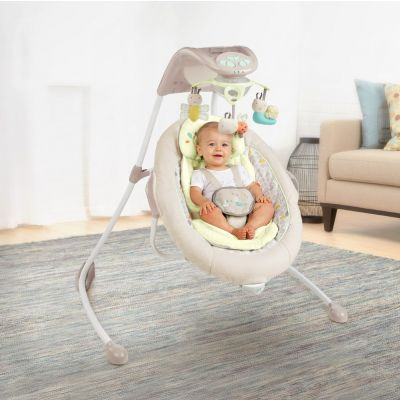Bright Starts - Leagan multifunctional InLighten Cradling Swing Seneca