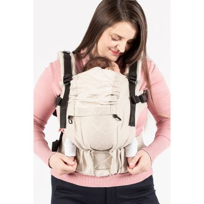 Isara - Marsupiu ergonomic bumbac organic The One naturel