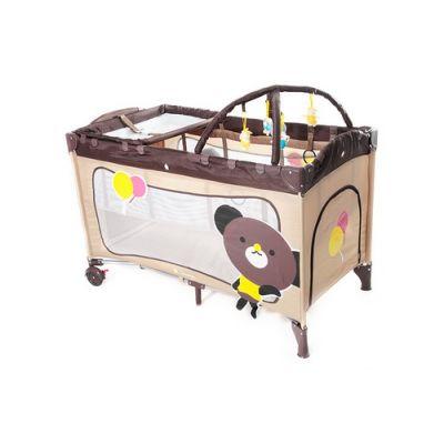 KinderKraft - Patut pliabil Jolly cu doua nivele plus