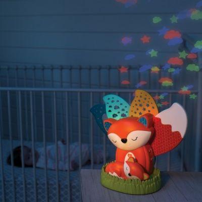 Lampa de veghe muzicala cu proiectii mobile Fox Infantino