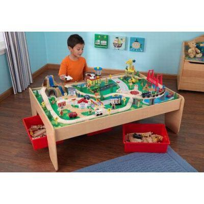 Kid Kraft - Set trenulete cu cascada si masa de joaca