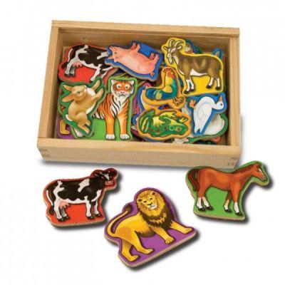 Melissa&Doug - Animale de lemn cu magneti