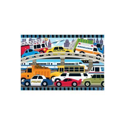 Melissa&Doug - Puzzle de podea Blocaj in trafic
