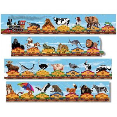 Melissa&Doug - Puzzle de podea Trenul alfabet