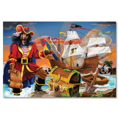 Melissa&Doug - Puzzle de podea Comoara piratilor