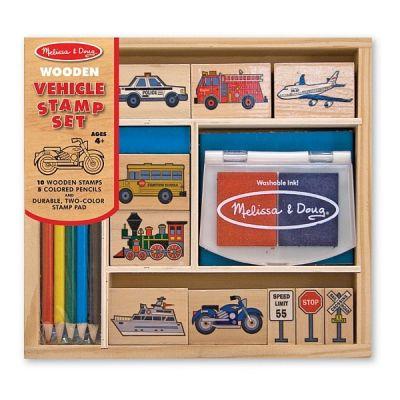 Melissa&Doug - Set de stampile Vehicule