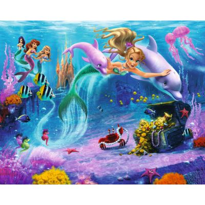 Walltastic - Tapet pentru copii clasic Sirene