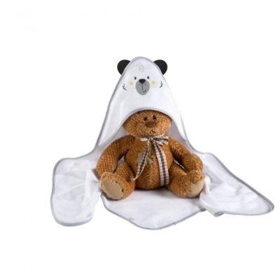 Albero Mio Prosop de baie cu gluga 100x100 K084 Funny Teddy Bear