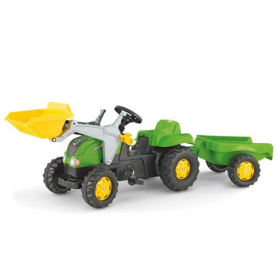 Rolly Toys - Tractor cu pedale si remorca copii 023134