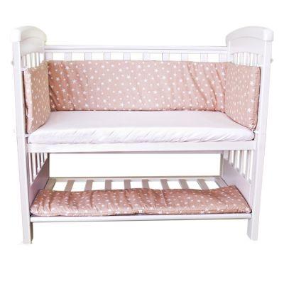 Set aparatori si cearsaf pentru pat cosleeper Dreamy Mini Sweet Stars Bej