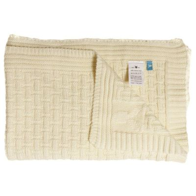 Wallaboo - Paturica Eden Vanilla lana groasa merino 70x90 cm