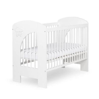Klups - Patut copii din lemn Nel Norisor 120x60 cm alb