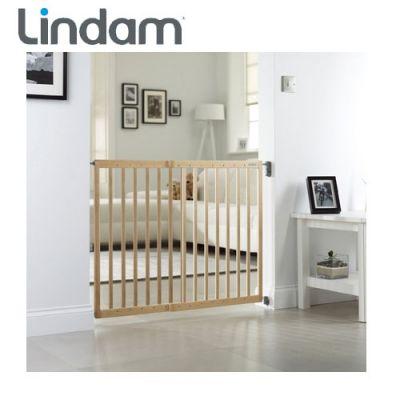 Lindam - Poarta siguranta extensibila din lemn 63 - 106 cm