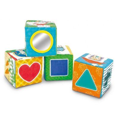 Set 4 cuburi senzoriale moi Smily Play