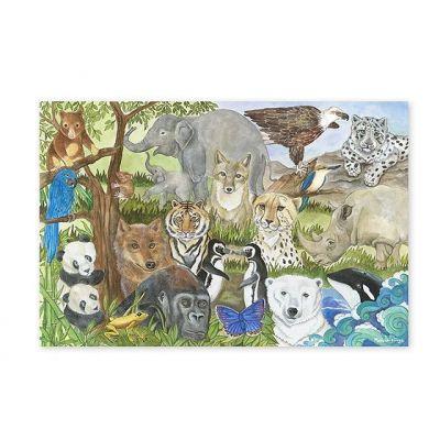 Melissa&Doug - Puzzle de podea Animale protejate