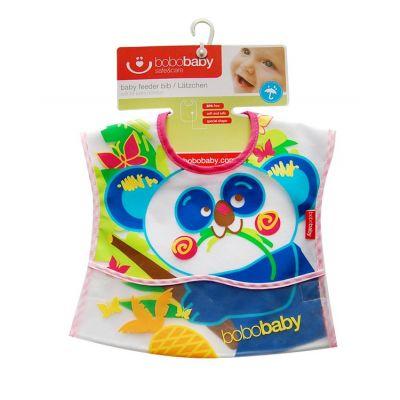 Bobobaby - Baveta cu buzunar din PVC cu scai Panda