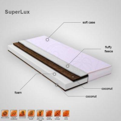Caretero - Saltea SuperLux Sandwich Cocos 120x60 cm