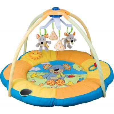 Baby Mix - Saltea de joaca cu carusel Muzical Mouse