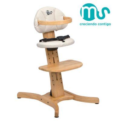 Innovaciones - Scaun de masa din lemn Evolve 2 in 1 cu husa