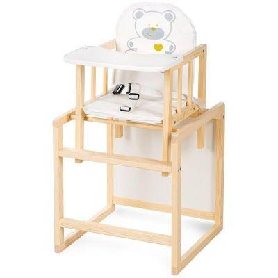 Scaun masa din lemn Bobo Klups Ursulet Crem