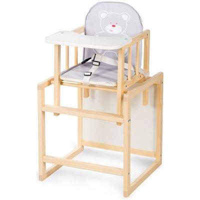 Scaun masa din lemn Bobo Klups Ursulet Gri