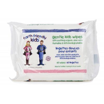 Earth Friendly Baby - Servetele umede eco pentru copii 60buc