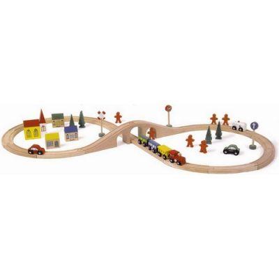 Legler - Set de tren de lemn cu accesorii