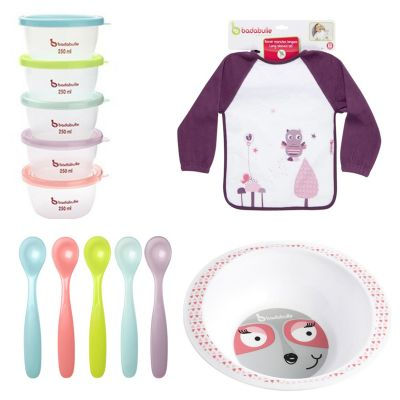 Badabulle - Set hranire pentru fetite