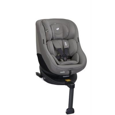 Joie - Scaun auto Rotativ cu Isofix  0-18 kg Spin 360° Gray Flannel, rear-facing prelungit