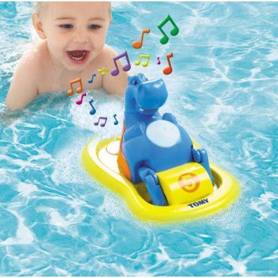 Tomy - Jucarie baie Hipopotam cu pedale