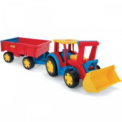 Wader - Tractor gigant cu remorca si escavator