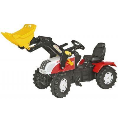 Rolly Toys - Tractor excavator 046317 alb rosu