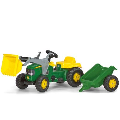 Rolly Toys - Tractor cu pedale si remorca 023110