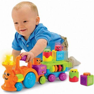 Fisher Price - Trenulet cu cuburi