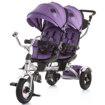 Tricicleta gemeni Chipolino Tandem purple