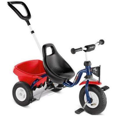 Puky - Tricicleta cu maner si roti gonflabile 2368