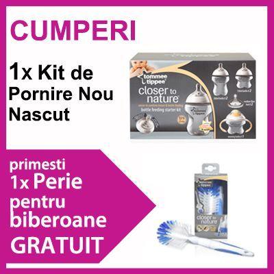 Tommee Tippee -  Kit de pornire + perie de biberon cadou