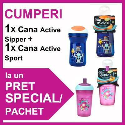 Tommee Tippee - Cana Active Sipper + Cana Active Sport PROMO