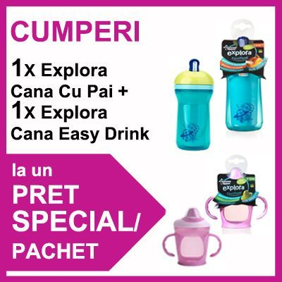 Tommee Tippee - Cana Easy Drink + Cana cu Pai PROMO