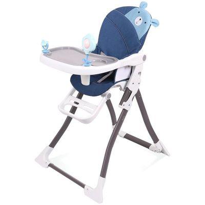 Scaun masa cu jucarii BP Ursulet 3D albastru