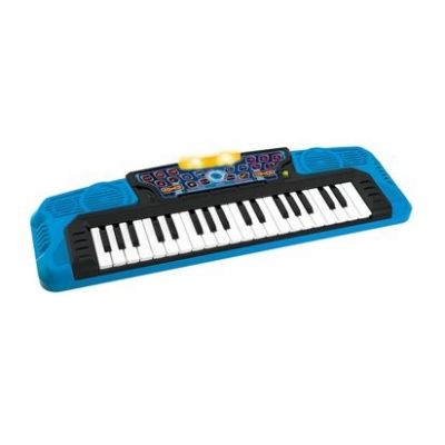 Orga electronica copii Winfun Superkeyboard Blue cu functie inregistrare