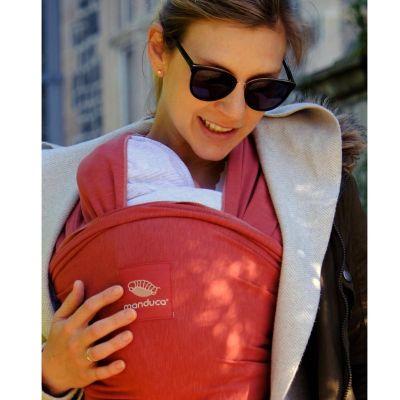 Wrap elastic pentru purtarea bebelusului Manduca Rouge