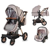 Coccolle - Carucior multifunctional 3 in 1 Ambra Bej