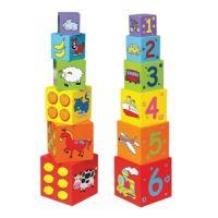 Cuburi de lemn - New Classic Toys
