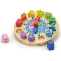 Puzzle din lemn Ceas - New Classic Toys