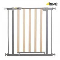 Hauck - Poarta de siguranta Wood Lock Safety Gate Silver 75-81-111 cm