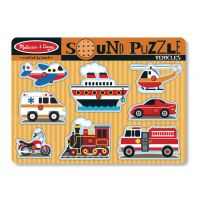 Melissa&Doug - Puzzle cu sunete Vehicule