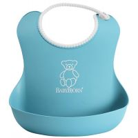BabyBjorn - Bavetica moale Soft Bib Turquoise