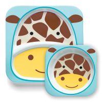 Skip Hop Set farfurie si bol Girafa