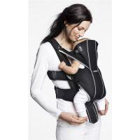 BabyBjorn - Marsupiu Anatomic Miracle Black-silver cu pozitii multiple de purtare